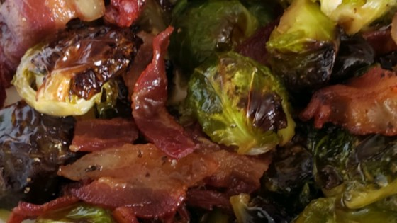 Roasted Brussel Sprouts with Maple and Bacon